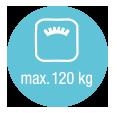 max. 120 kg