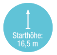 Starthoehe 16,5 m