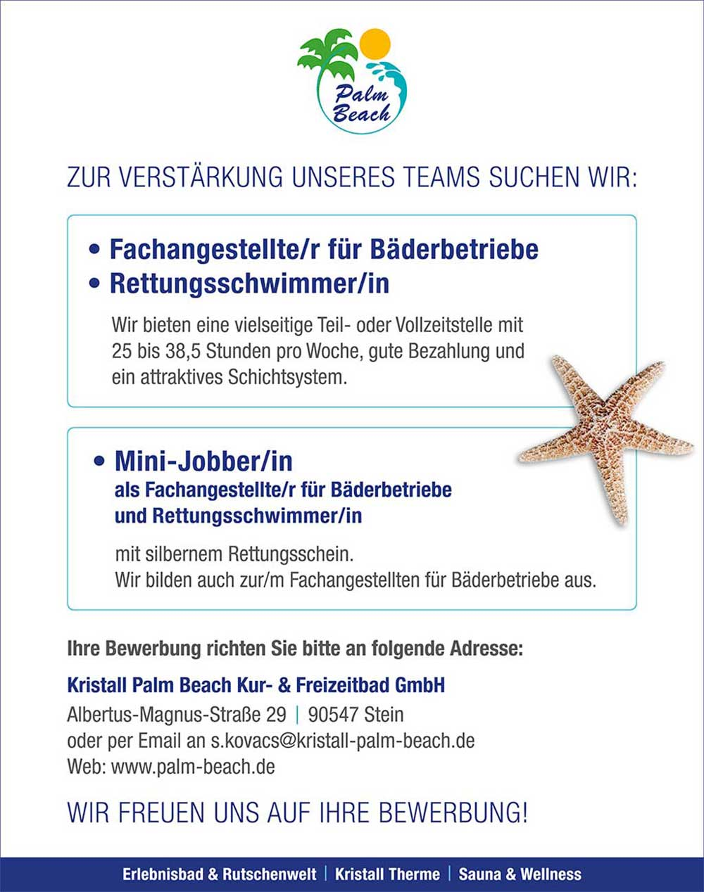 Jobs Kristall Palm Beach In Stein Bei Nürnberg